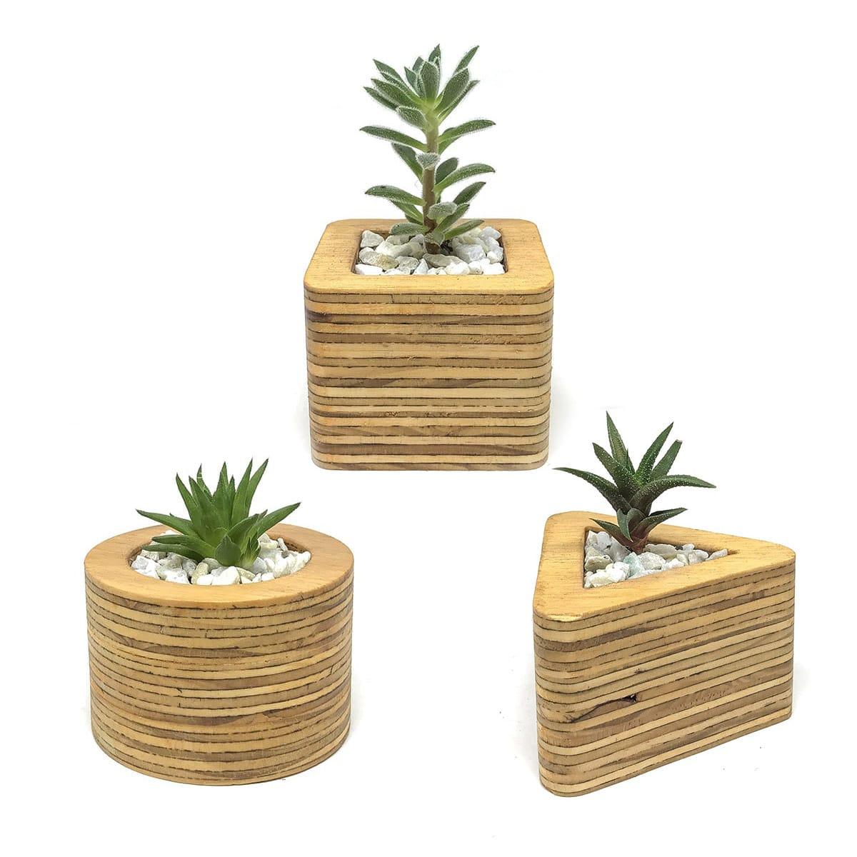 Macetas de madera macetas de madera para decorar tus - Macetas madera exterior ...